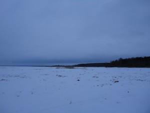Замёрзшее водохранилище