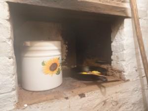 Приготовление еды на сковороде в печи