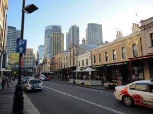 Старинная застройка в центре Сидней
